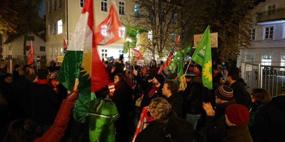 Kundgebung am 25. November 2019 für ein buntes Ramersdorf