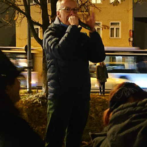 Christian Smolka, Kundgebung für ein buntes Ramersdorf, 25. November 2019