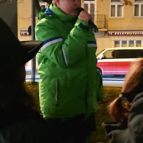 Susann (Sanne) Kurz, Kundgebung für ein buntes Ramersdorf, 25. November 2019