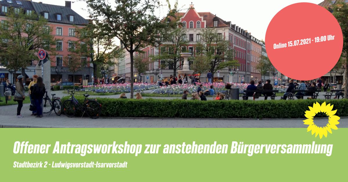 Veranstaltungsfoto mit Gärtnerplatz zum Antragsworkshop